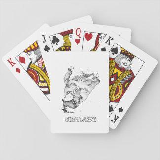 Ghoulardi (Black/White) Playing Cards, Poker