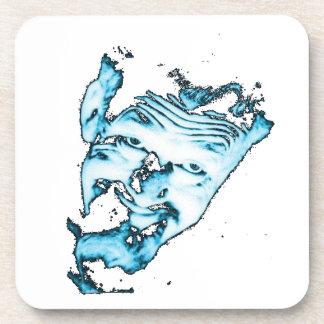 Ghoulardi (Blue - Transparent) 6 Plastic Coasters