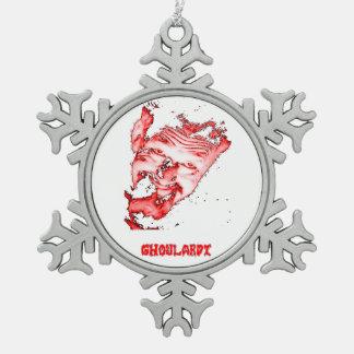 Ghoulardi (Red) Pewter Snowflake Ornament