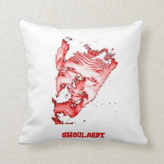 """Ghoulardi (Red-Transparent) 16"""" x 16"""" Throw Pillow"""