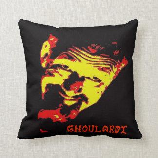 "Ghoulardi (Red/Yellow) 16"" x 16"" Throw Pillow"
