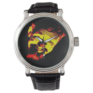 Ghoulardi (Red/Yellow) Leather Strap Watch