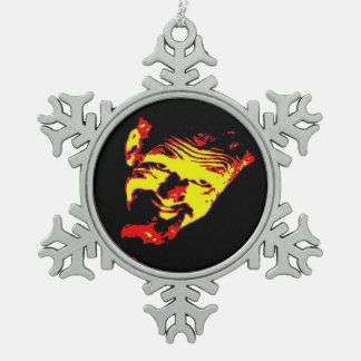 Ghoulardi (Red/Yellow) Pewter Snowflake Ornament