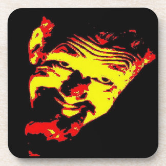 Ghoulardi (Red/Yellow) Plastic Coasters - Set of 6