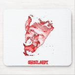Ghoulardi (rojo/transparente) Mousepad adaptable