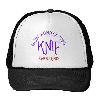 Ghoulardi todo el mundo es un Knif púrpura Gorras De Camionero
