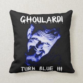 "Ghoulardi (Turn Blue) 16"" x 16"" Throw Pillow"