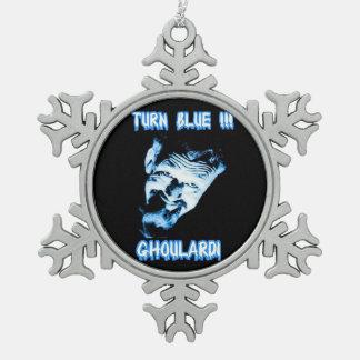 Ghoulardi (Turn Blue) Pewter Snowflake Ornament