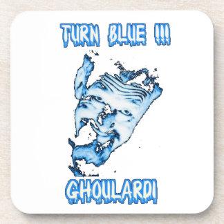 Ghoulardi (Turn Blue - Transp.) 6 Plastic Coasters