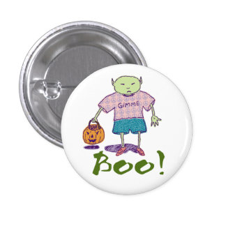Ghoulie Boo! Button