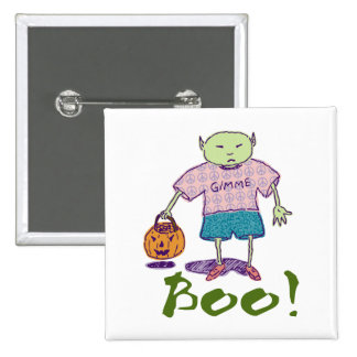 Ghoulie Boo! Square Button