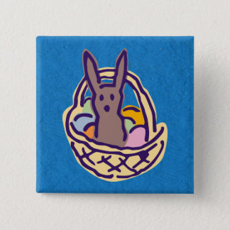 Ghoulie Easter Bunny Basket Button