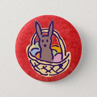 Ghoulie Easter Bunny Basket Pinback Button
