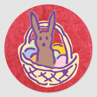 Ghoulie Gimme Chocolate Bunny Basket Stickers