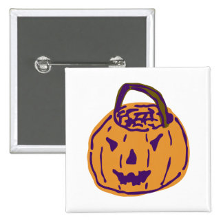 Ghoulie Gourd Square Button