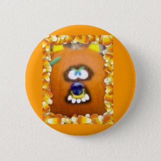 Ghoulie Pumpkin Face Pinback Button