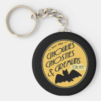 Ghoulies Ghosties and Gremlins Basic Round Button Keychain