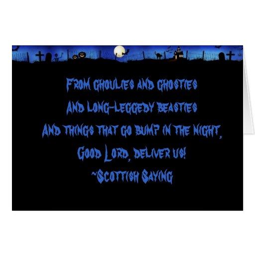 Ghoulies y Ghosties Tarjeta De Felicitación