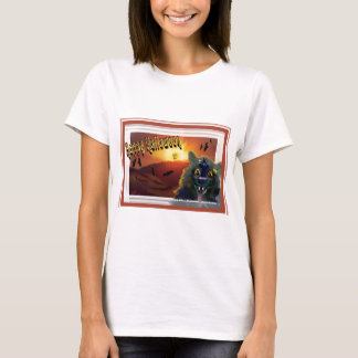 Ghoulish Cat Happy Halloween T-Shirt