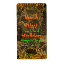 Ghoulish Delight Rat Halloween Baking Labels