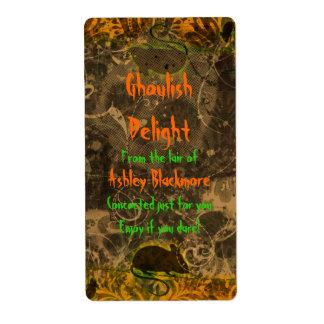 Ghoulish Delight Rat Halloween Baking Labels