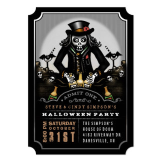Ghoulish Fun Halloween Party Invitation