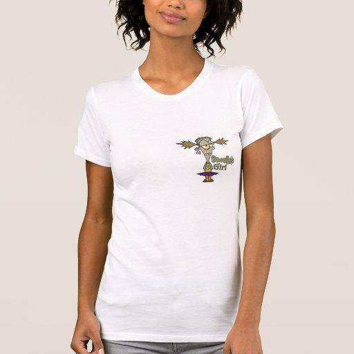 ghoulish girl zombie girl cartoon tee shirt