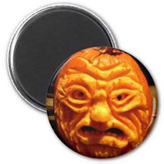 Ghoulish Gourd V 2 Inch Round Magnet