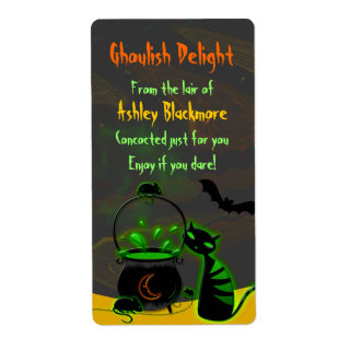 Ghoulish Halloween Baking Labels Stickers