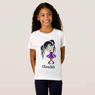 Ghoulish Halloween Girl with Ponytails T-Shirt