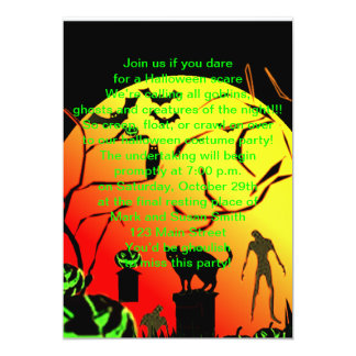 Ghoulish Halloween Party Invitations