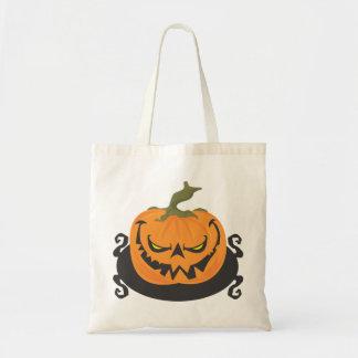 Ghoulish Pumpkin Tote Bag