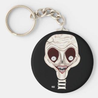 Ghoulish Skull Keychain
