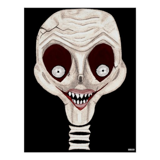 Ghoulish Skull Poster