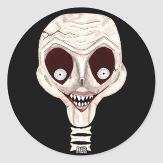 Ghoulish Skull Stickers