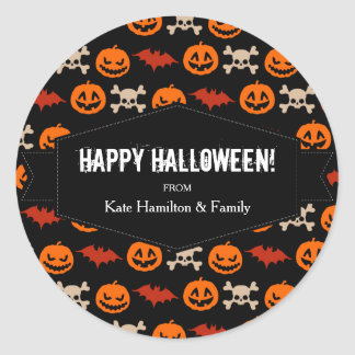 Ghoulish Things of Halloween Classic Round Sticker