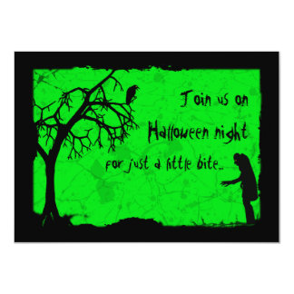 Ghoulish Vampire Halloween Party Card