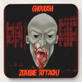 Ghoulish Zombie Attack Beverage Coaster