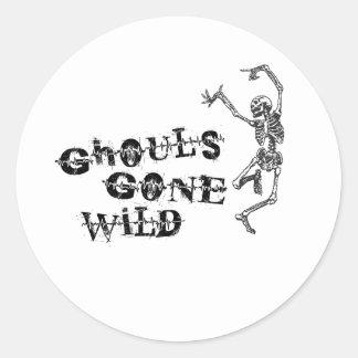 Ghouls Gone Wild Classic Round Sticker