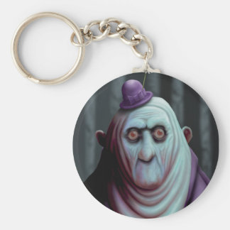 """Ghouls in Heavens Fall"" by HATE Basic Round Button Keychain"