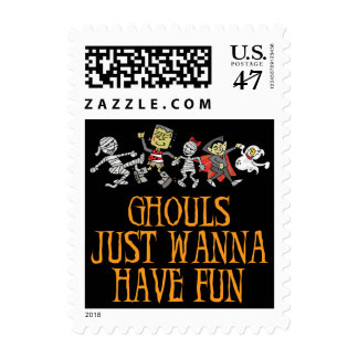 Ghouls Just Wanna Have Fun Postage Stamp