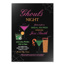 Ghouls Night Halloween Bridal Shower Cocktails Invitation