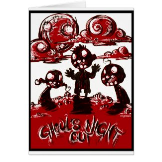 Ghouls Night Out card