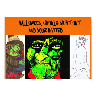 GHOULS NIGHT OUT HALLOWEEN PARTY invitation
