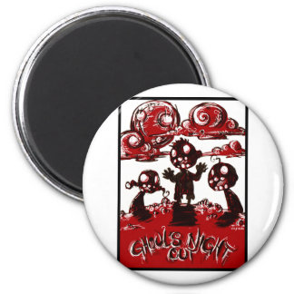 Ghouls Night Out Refrigerator Magnet