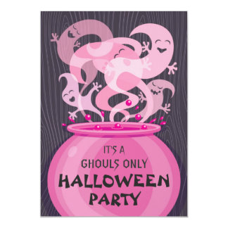 Ghouls Only Halloween Party Invitation