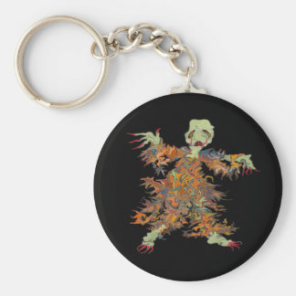 ghouly ghost key ring basic round button keychain