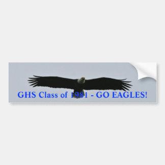 GHS Class of 1981- Go Eagles Car Bumper Sticker