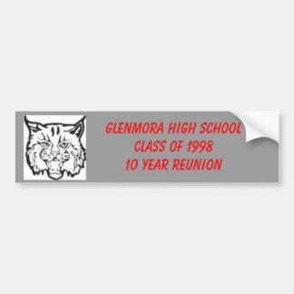 GHSwildcats, CLASS OF 1998... Car Bumper Sticker