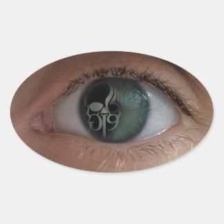 GI9 Eye Oval Sticker